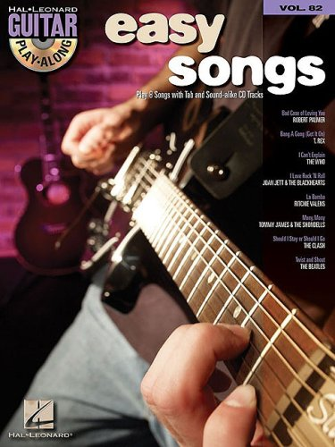 Easy Rock Songs: Guitar Play-Along Volume 82 (Hal Leonard Guitar (Roll Easy Guitar Book)