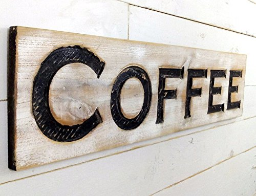 - Coffee Sign - Carved in a Cypress Board 40