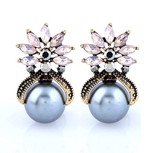 explosive personality exaggerated pearl diamond earrings European and American fashion temperament w,Powderprotein