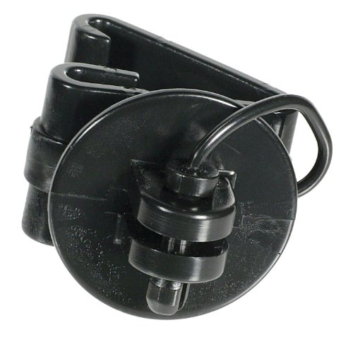 (Fi-Shock SC-77B Black Pin-lock Snap-on T-Post Insulators, 25-Per Bag)