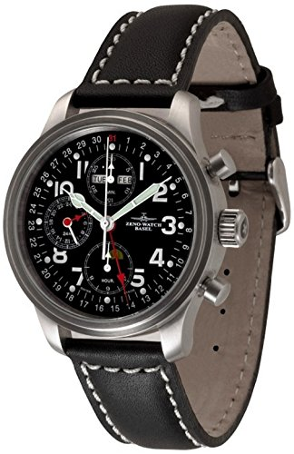 Zeno-Watch Mens Watch - NC Pilot Chrono full calendar - 9557VKL-a1
