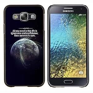 LECELL--Funda protectora / Cubierta / Piel For Samsung Galaxy E5 E500 -- Cosmos Confianza Éxito Vida Planeta Tierra --