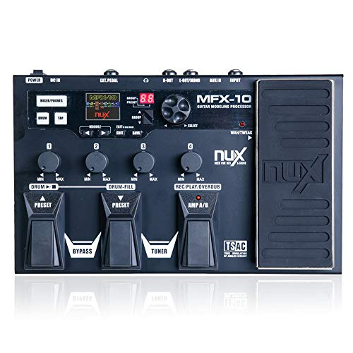 MFX-10 Modeling Guitar Processor Guitar Effect Pedal Drum Recorder 55 Effect 72 Preset Multi-Function
