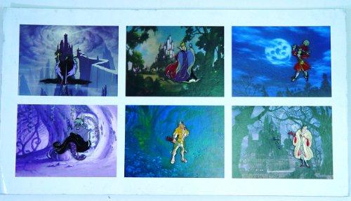 Disney Villains Pin Set LE 6 Oversized Pins Maleficent Evil Queen Captain Hook Ursula Clayton Cruella de Ville with Backgrounds ()