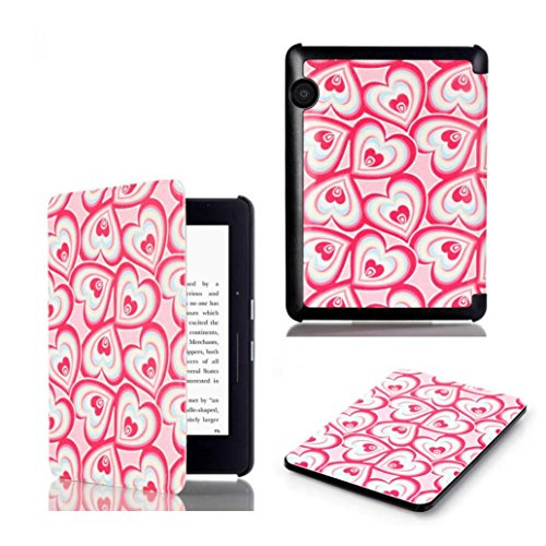 Iusun Stand Folio Flip Patterned Leather Smart Case Cover for Amazon Kindle Voyage 6.0 Inch (A)