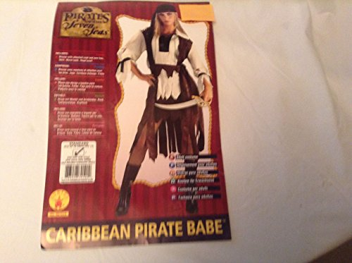 Caribbean Pirate Babe of Seven Seas Buccaneer Std Sz up to 12 Dress HA241 -