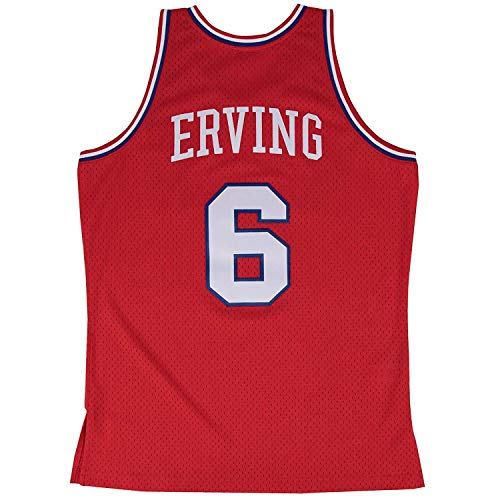 Julius Erving Philadelphia 76ers Mitchell & Ness NBA Throwback HWC Jersey - Red ()