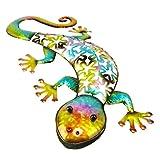 Christmas Concepts® 53cm Colourful Metal Gecko Wall Art - Indoor/Outdoor Garden Decoration