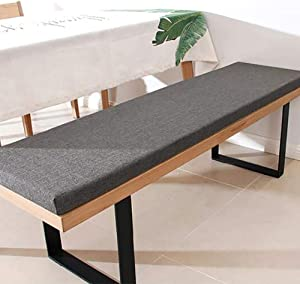 YUMUO Cotton Linen Bench Cushion,Rectangle Anti Slip Bench Pad,Thicken Washable Seat Cushions for Dinning Room Chairs Patio Balcony A 150x35x3cm(59x14x1inch)