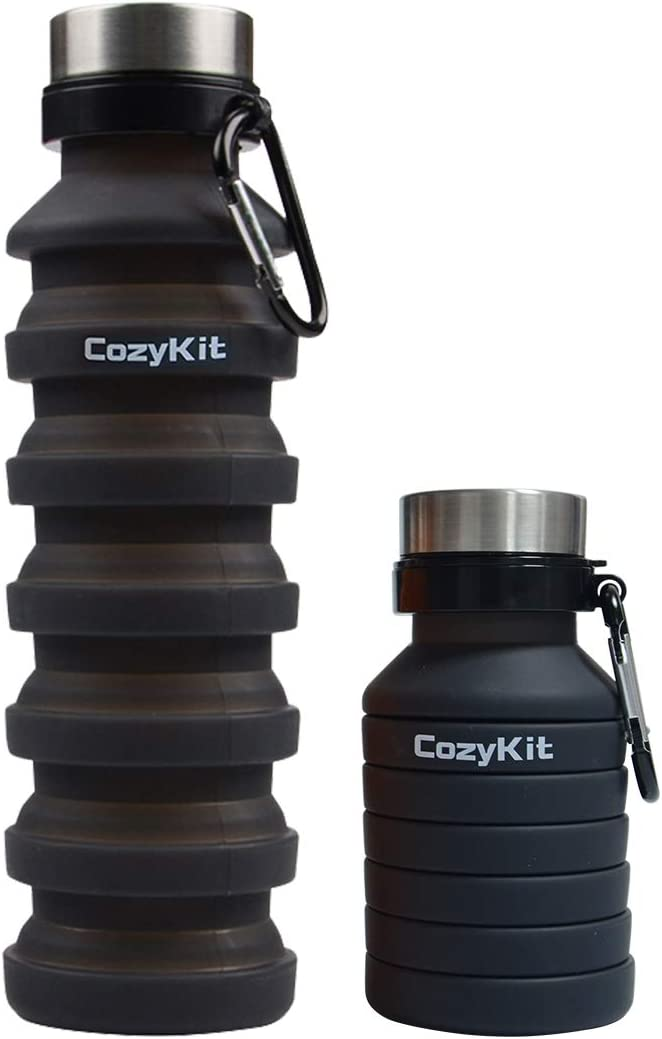500ML Collapsible Sports Bottle Silicone Folding Travel Bottle Drink Camping Wat