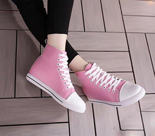 Mme Spring chaussures d'ascenseur chaussures en dentelle haut-dessus chaussures plates femmes chaussures de sport , US7.5 / EU38 / UK5.5 / CN38