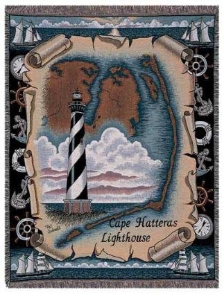 Tapestry Throw Cape Hatteras, NC Lighthouse Blanket - Nc Lighthouse