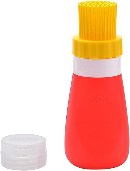 Backen Pinsel /Ölpinsel /Öl-Flaschen-B/ürsten-Silikon-B/ürste Kleine tragbare Home K/üche im Freien Picknick hohe Temperatur for Barbecue Kochen 1 Packung Schwarz