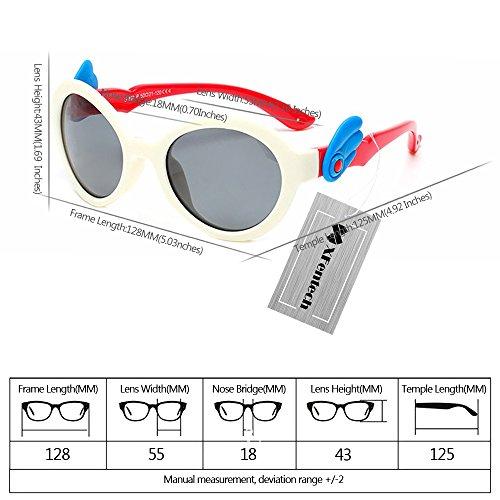 XFentech Nouvelles Lunettes de soleil polarisées UV400 avec des ailes dange Mignons pour les Enfants Unisexes C11