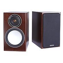 MONITOR AUDIO Silver 1 Bookshelf Speakers - Walnut (Pair)