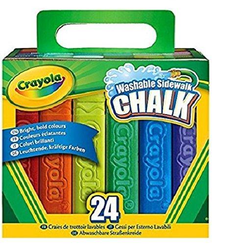 Crayola 24 Count Sidewalk Chalk, Pack of 7