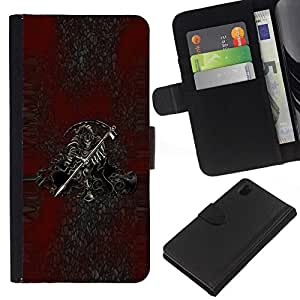 All Phone Most Case / Oferta Especial Cáscara Funda de cuero Monedero Cubierta de proteccion Caso / Wallet Case for Sony Xperia Z1 L39 // Grim Reaper Death