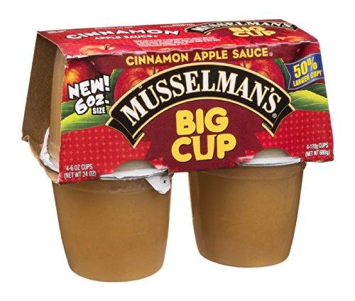 Musselman's Apple Sauce Big Cup Cinnamon 24 OZ (Pack of 24) by Musselmans