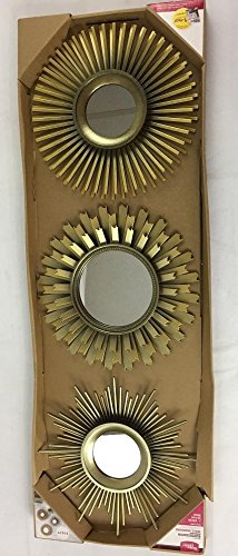 Better Homes and Gardens 3-Piece Sunburst wall Mirror Set, gold from Better Homes & Gardens