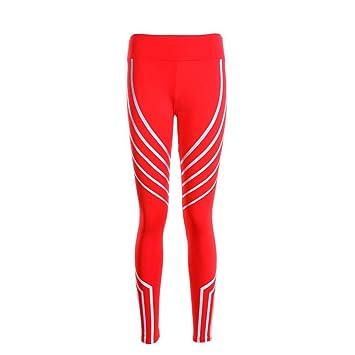 SHEQUDF Pantalón de Yoga Medias para Mujer Leggings para ...