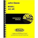 New Operators Manual For John Deere Tractor AO Styled (272000 & Up)