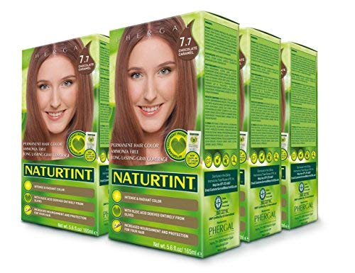 Naturtint Permanent Hair Color - 7.7 Chocolate Caramel, 5.6 fl oz (6-pack) by Naturtint