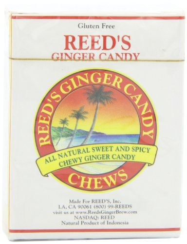 Reed's Ginger Candy Chews, 9 Pieces (Pack of ()