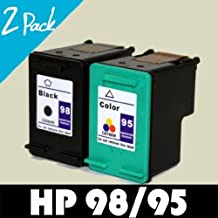 HP 98 C8765WN & HP 95 C8766WN Compatible Remanufactured Combo Pack - 1 Black & 1 Color Ink Cartridges for HP Photosmart 2570 C4140 2575 C4150 2575v C4180 2575xi C4183 8050 C4188 C4100 D5160 C4110 Deskjet 5940 5940xi Officejet 6310 6310xi Printer