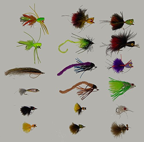 Umpqua 18-Piece Mega Bass Fly And Popper ()