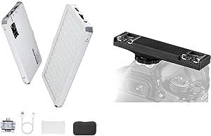SUPON 112 LED Video Light &SUPON E-TTL Dual Hot Shoe Flash Speedlite Light Bracket