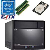 Shuttle SH110R4 Intel Pentium G4600 (Kaby Lake) XPC Cube System , 32GB Dual Channel DDR4, 2TB HDD, DVD RW, WiFi, Bluetooth, Pre-Assembled and Tested by E-ITX