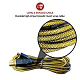 TekBotic Play & Charge 10ft Nintendo New 3DS XL / 3DS / DSi / DSi XL USB Cable : Braided - Long Lasting Nintendo Replacement Charger Cord with Extended Length - Added Durability - 12 Month Warranty