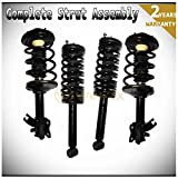 WIN-2X New 4pcs Front+Rear Right+Left Quick Complete Suspension Shock Struts & Coil Springs Assembly Kit Fit 95-99 Nissan Maxima 96-99 Infiniti I30