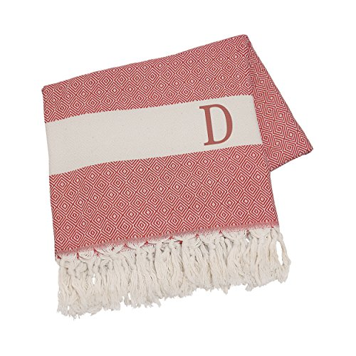 Cathy's Concepts Personalized Turkish Throw, Letter D, Red