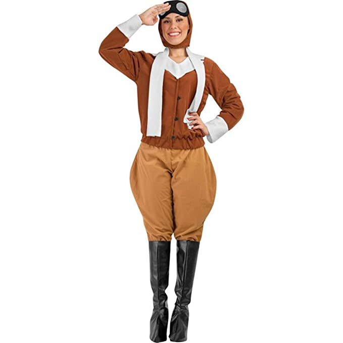 1940s Costumes- WW2, Nurse, Pinup, Rosie the Riveter Amelia Earhart Adult Costume (Size: Standard 6-10) $49.99 AT vintagedancer.com