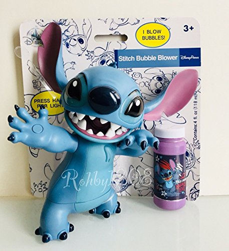 Disney Parks Lilo and Stitch Figural Light Up Bubble Blower Set
