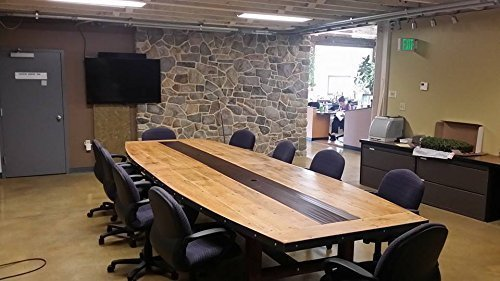 The Edison Signature - Our Handmade Work, Conference or Dining Table made from Reclaimed Wood (Oak Conference Table compare prices)