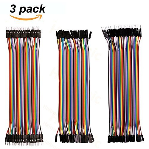 Haitronic 120pcs 20cm Length Jumper Wires/Dupont Cable Multicolored(10 Color) 40pin M