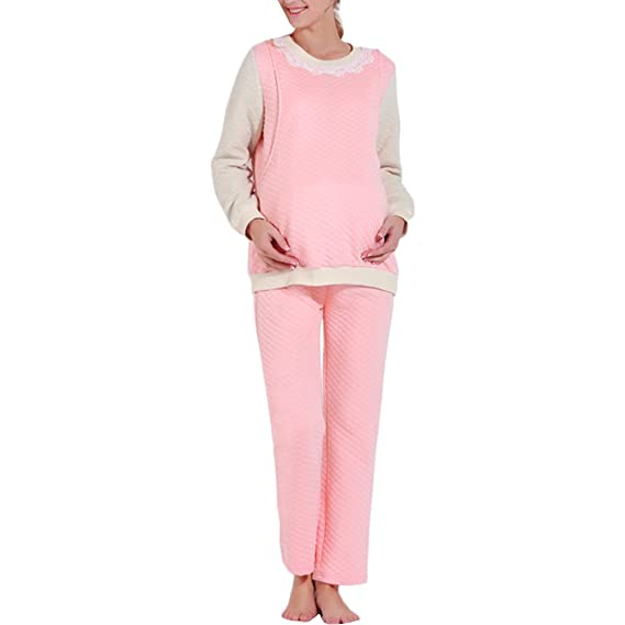 d68daaefb4997 Zhhlaixing Women's Pure Cotton Winter Thick Maternity & Nursing ...
