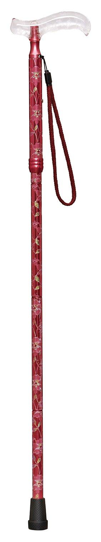 ケイホスピア 愛杖テキスタイル折りたたみタイプ ピンク(対応身長:148~164cm) B06XFG4SFP ピンク ピンク