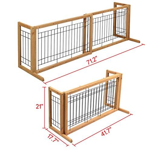 Petpremium Free Standing Pet Gates Extra Wide Indoor