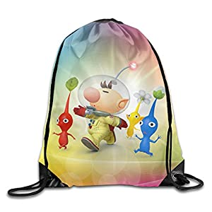 Pikmin Game Nylon Drawstring Backpack Home Travel Sport Storage