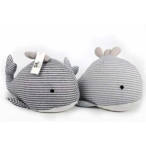 Seashore Stop - The Home Fusion Company Fabric Seashore Blue Stripey Whale Doorstop Nautical Animal Door Stop Home Gift