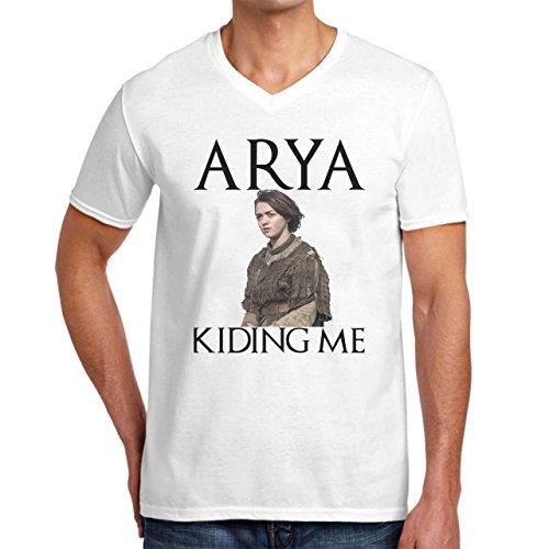 Arya Kiding Me The Game Of Thrones Herren V-Neck