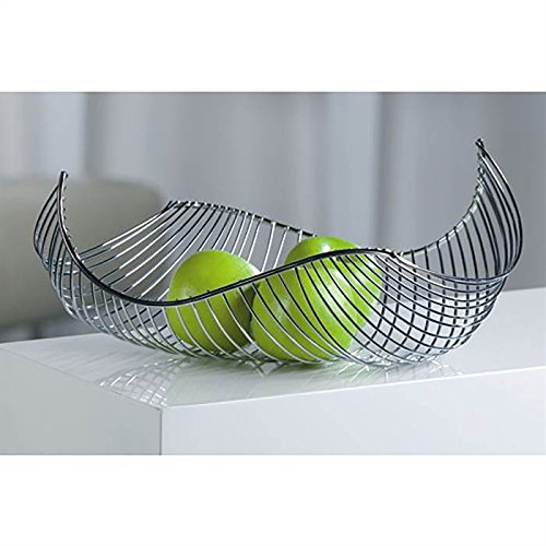 DESIGN FRUIT BOWL/BREAD BASKET in chromed steel silver from XTRADEFACTORY XTRADEFACTORY GMBH