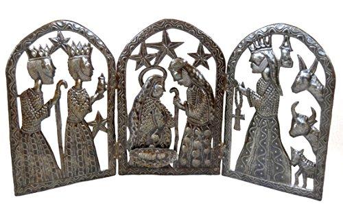 Tryptic Nativity Christmas Haitian Metal product image