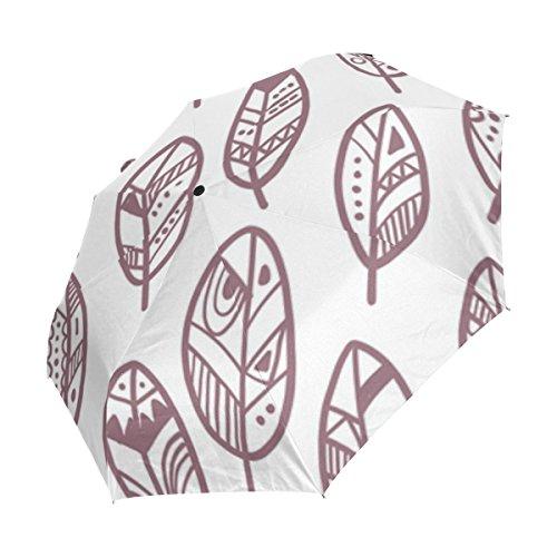 bennigiry Watercolor Boho Pfeile winddicht & wasserdicht Compact Travel Regenschirm–Auto Open Close Regenschirm Fest leicht einfach, der Sonnenschirm für Herren Frauen Color#001