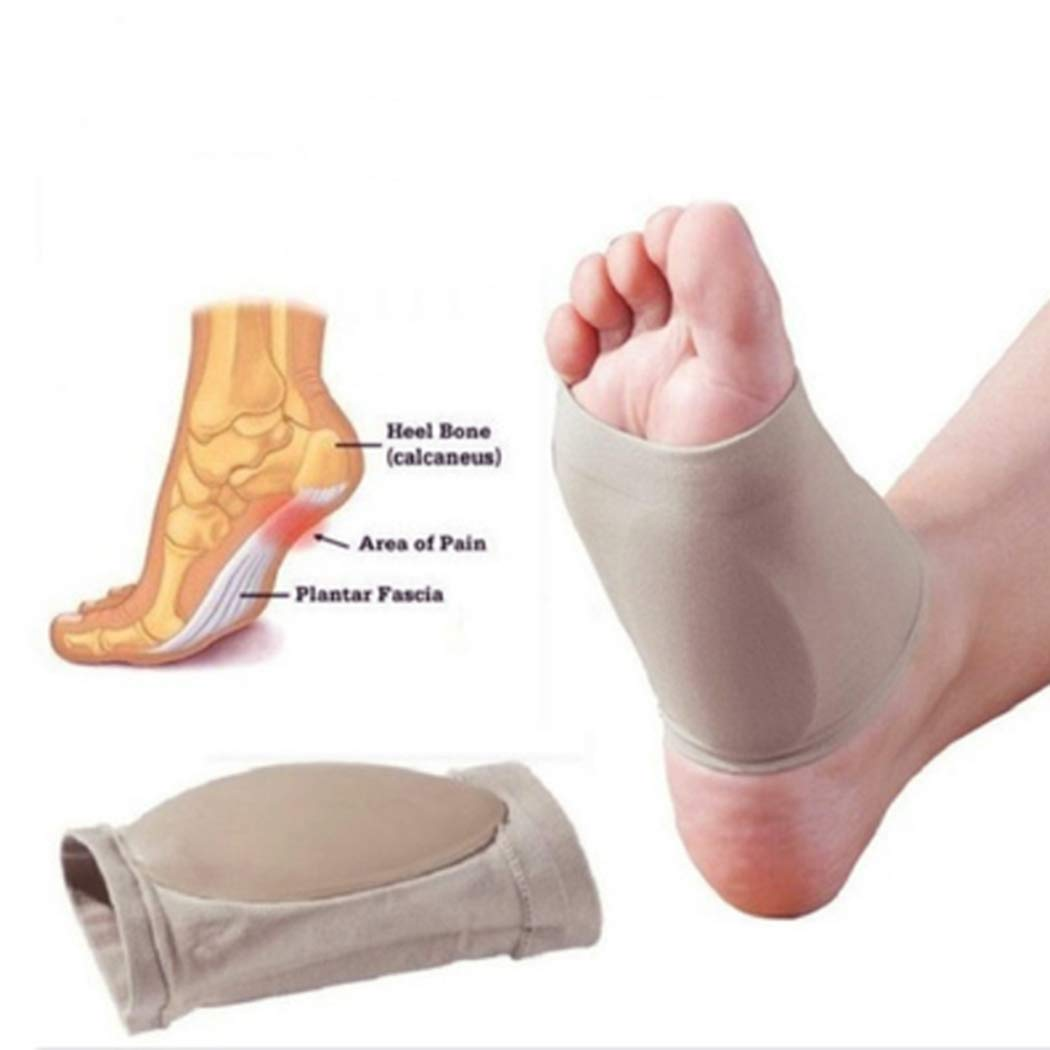 Kikole Wrap Gel Therapy Anti-Fatigue Massage Insoles Orthotic Arch Support Brace Shoe Cushion Compression Sleeves Insole