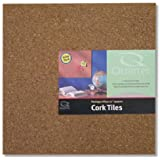 """Quartet Cork Tiles, 12"""" x 12"""", Cork Board, Bulletin Board, Mini Wall, 4 Pack (102)"""