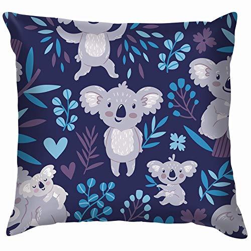 Cute Koala Bears Animals Wildlife Australia Soft Cotton Linen Cushion Cover Pillowcases Throw Pillow Decor Pillow Case Home Decor 12X12 Inch (Ideas Patio Back Australia)